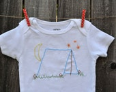 Camping Trip Hand Embroidered Baby Bodysuit