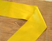4 inch Double sided Satin Ribbon, shown in Yellow, by 1, 2, or 5 yards.  DIY sewing or crafting supplies