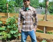 Vintage Western Shirt Men's Pearly Snap Cowboy Shirt