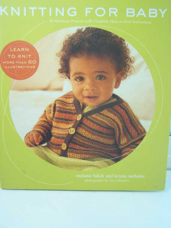New Baby Knitting Pattern Books : SALE Knitting for Baby Softcover Pattern Book by WitsEndDesign