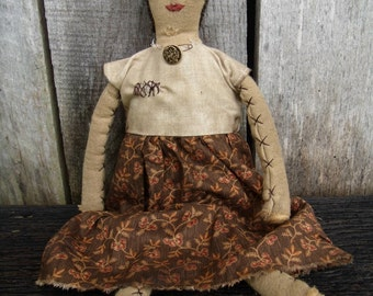 My Primitive MY GRANDMOTHERS DOLL  Pattern instant download 108