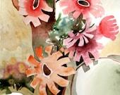 Original (not print) art watercolor painting - Floral
