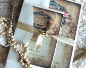 Vintage Handmade Wedding Invitation Suite SAMPLE by avintageobsession on etsy
