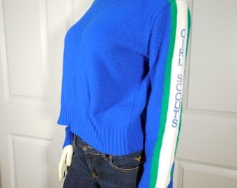 Authentic Blue Girl Scout Sweater