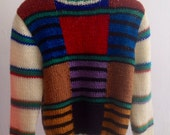 The Vintage Colorblock Striped Sweater