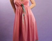 Upcycled Slip Dress - Altered Vintage Slip - Cotton Candy Pink - Size small/ medium