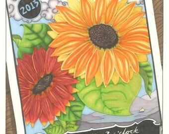 Lopez Island Farmer's Market 2013 Poster, Washington State farmer's markets