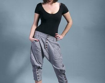 "harem pants grey baggy trousers woman ""ALABAMA SONG"""