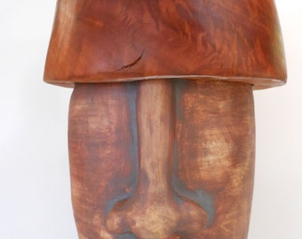 Big Moai Man Stoneware Jug