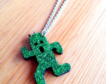 Cactuar - glitter Final Fantasy necklace