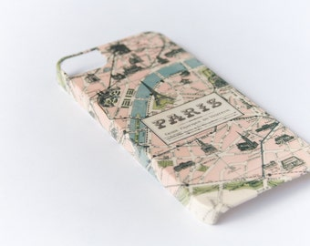 Phone Case, Paris Map, iPhone 6, iPhone 5S, Galaxy S6 Edge, , iPhone SE Case iPhone 6 Plus Case