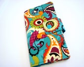 iphone Card Wallet - Cell Phone Case iphone 5 case iphone 6 wallet  iphone 6 plus wallet - Turquoise Paisley