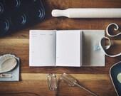 Rezept Buch - Leder Wrap Journal - Hand-gebunden Koch Buch - 6 x 4 - Custom - A6