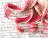 SALE the W H I S P E R … whisper hot true Pink magenta and bright Blonde clip in hair accent Black Friday Cyber Monday