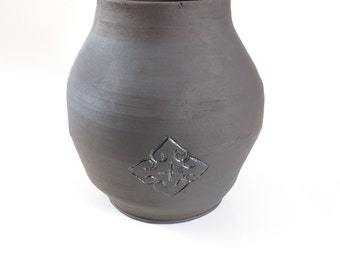 Large Black Ceramic Pot