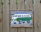 VW Bus Surf time Reclaimed Wood Sign (Made to Order)