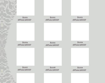 GIMP Jewel Collection line sheet, instant download - silver