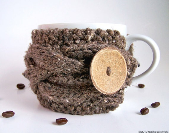 Coffee Cozy PATTERN, Knitting Pattern, Tea Cozy Pattern, Mug Cozy, Coffee Cup Cozy Pattern, Cup Sleeve, Knit Cup Cozy, Instant Download
