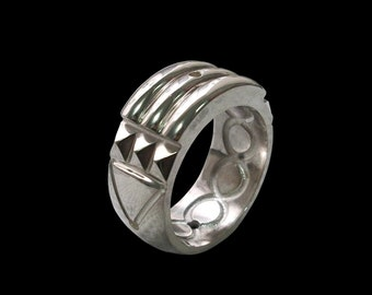 925 Solid Sterling Silver Atlantis Ring -ALL SIZES- Shiny Finish
