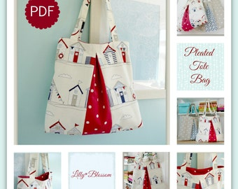 PDF Pleated Tote Bag sewing pattern