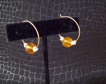 Orange Outrage Hoop Earrings