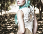 dream catcher bodice renaissance medieval pirate goddess elven fairy crochet top fairie fay corset belly dance gypsy top