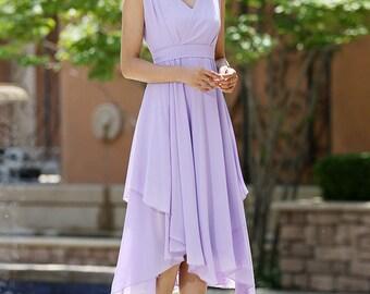 purple bridesmaid dress -  women dress summer dresses chiffon dress -custom made  (1003)