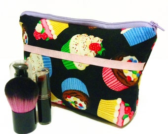 Sweet Cupcakes Makeup Bag - Cosmetic Purse