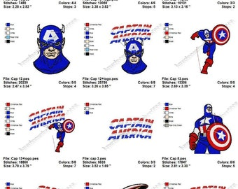 INSTANT DOWNLOAD - Captain America (2) - embroidery designs