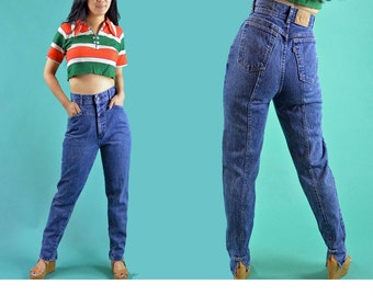 80s Vintage Levi Jeans High Waisted Jeans Womens Levis 918 ACID WASH Taper Leg Jeans 1980s Mom Jeans High Waist Vintage Denim Jeans 26 Waist