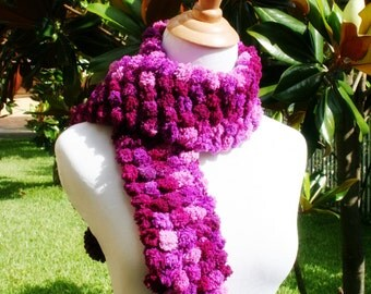 Purple Children's PomPom Scarf