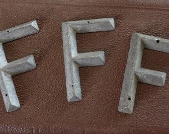 Letter F Antique Marker Tag Art Deco Retro Mid Century Vintage Hardware