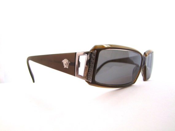 Versace Eyeglass Frames With Rhinestones : Versace Eyeglasses // Vintage Designer Frames // Rhinestones