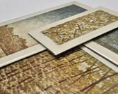 Set of 4 Original Hand Pulled Reduction Woodblock Prints! Limited Edition April Landscape Fine Art Woodblock Prints