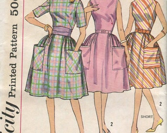 Simplicity 4336 -UNCUT  Vintage 60s Dress Pattern - proportioned fit height - 34 bust