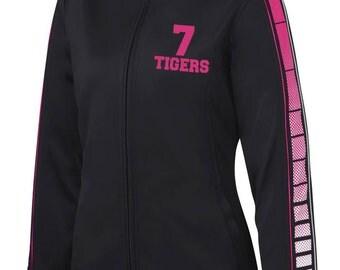 Sublimation Track Jackets Sport-Tek  Customized  Dance Gymnastics Softball Football Soccer Volleyball Sport Team Vinyl Glitter Rhinestone
