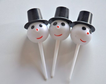 Snowman Head Cupcake Toppers Frosty The Snowman 12