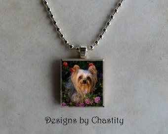 Yorkie Scrabble Necklace - Yorkshire Terrier Dog Charm