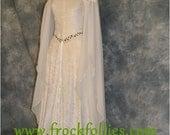 "Medieval Dress, Elvish Wedding Dress, Handfasting Dress, Elvish Gown, Renaissance Gown, Medieval Gown,""Guinevere"""