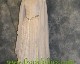 Medieval Dress, Elvish Wedding Dress, Handfasting Dress, Elvish Gown, Renaissance Gown, Medieval Gown,Guinevere