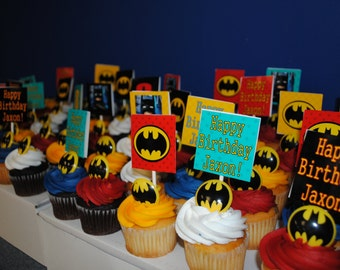 Lego Batman Cupcake Toppers