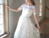 Vintage Inspired Lace Wedding Dress with Sleeves
