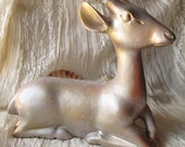A One of A Kind Shabby Chic Upcycled Deer Door Stop / Conversation Piece