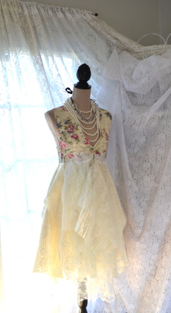 Easter Dress, Spring jacket, Country chic vest,  Boho dresses, lagenlook duster, Linen lace, Romantic, women's clothes, true rebel clothing