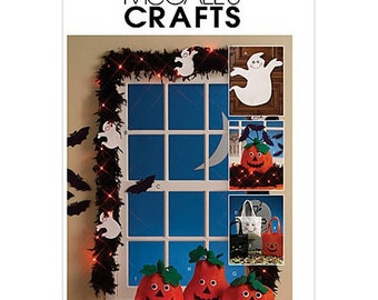 Sew & Make McCall's M5949 SEWING PATTERN - Halloween Decorations Pumpkins Ghosts Treat Bags