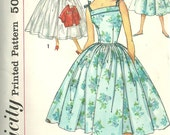 Simplicity 2561 / Vintage 50s Sewing Pattern // Dress And Jacket / Size 12 Bust 32