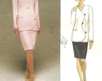 Vogue 1706 / Designer Sewing Pattern by Bill Blass / Skirt Jacket Suit / Sizes 14 16 18