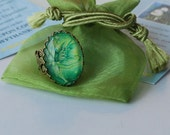Absinthe Faerie Ring - Faerie Ring - Green Faerie Ring - Green Irish Faerie - Faerie Charm Ring