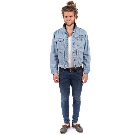 jean jacket 80er jahre jeansjacke verblasst notleidenden. Black Bedroom Furniture Sets. Home Design Ideas