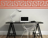 Greek Key Wall Decal, Geometric Wall Decal, Geometric Greek Key Wall Decal, Modern Nursery Decor, Dorm Decor, Geometric Wall Pattern
